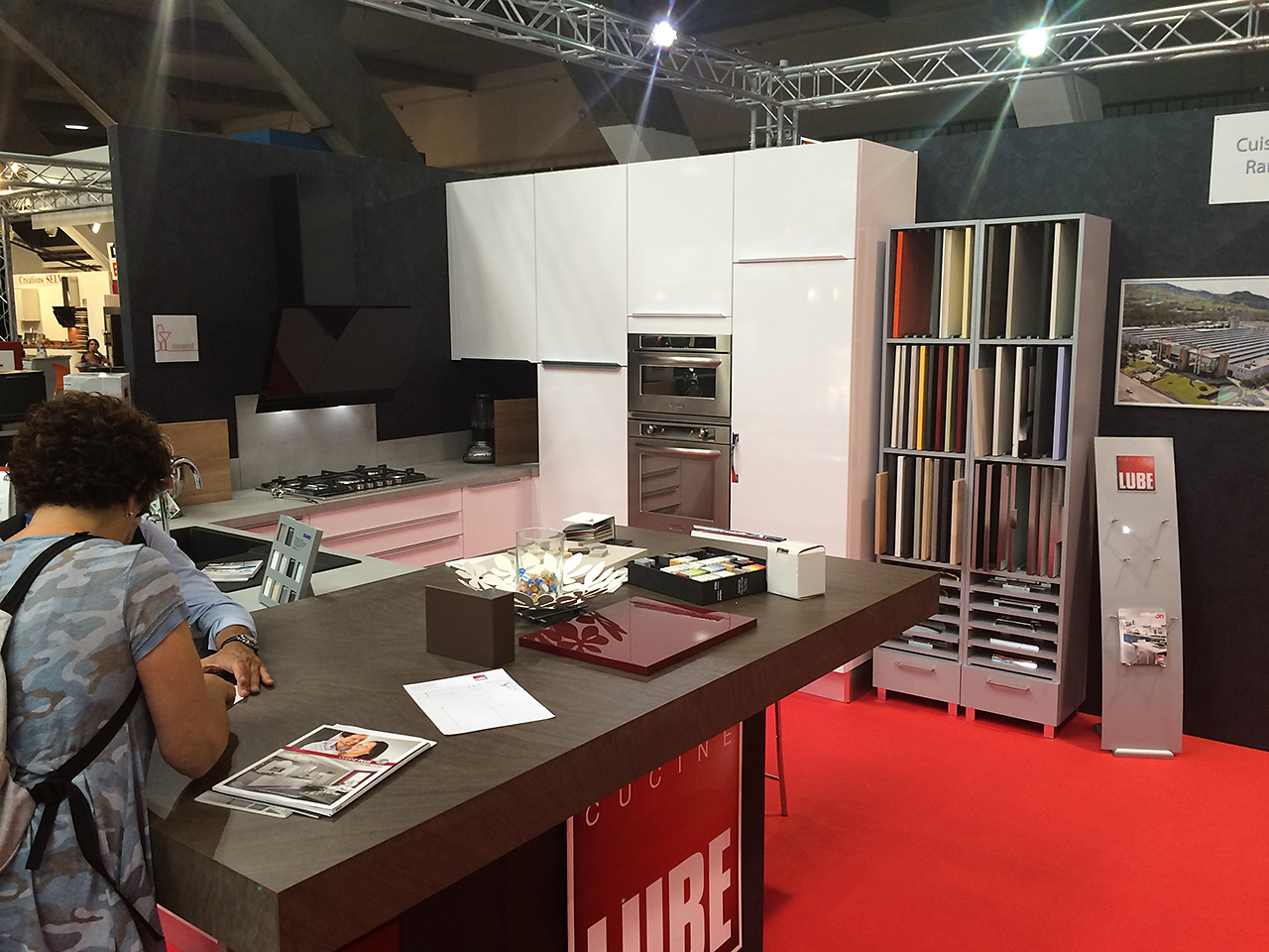Salon Habitat Strasbourg France Cucine Lube On Display At The Salon De L Habitat In