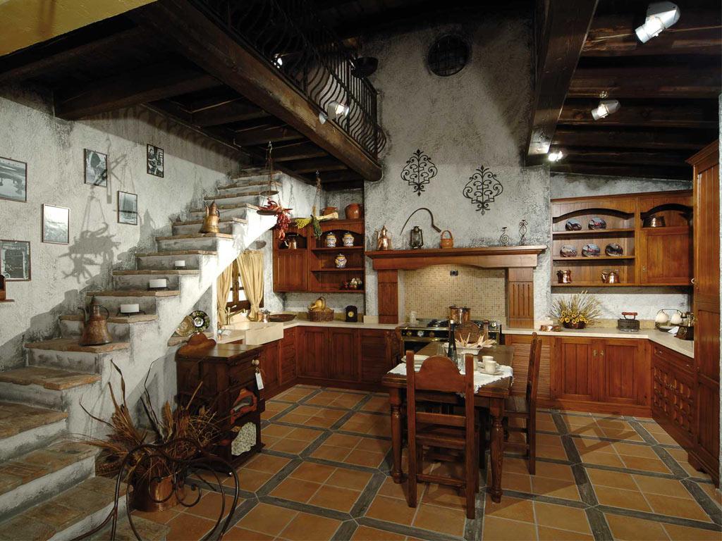 Cucina legno risparmio casa illuminazione soggiorno led design