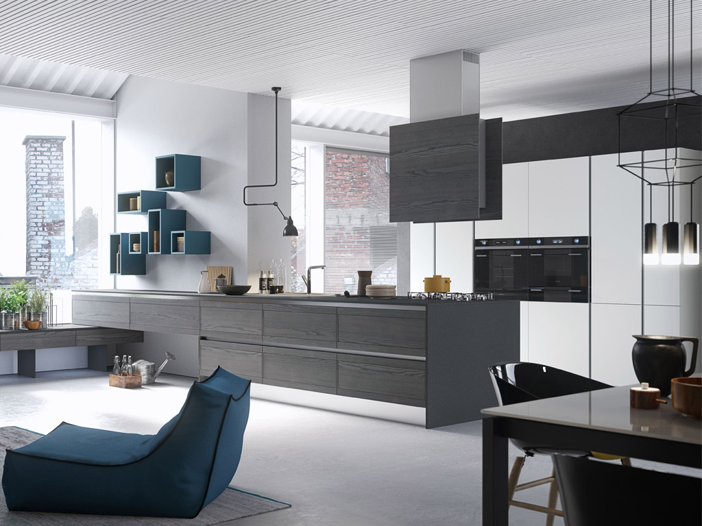 Cucine Moderne Con Isola Open Space Wonderwall Cucine Open Space