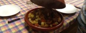 New food in casa.. Tajine manzo (halal) e verdure.
