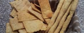 Crackers e grissini con lievito madre
