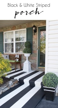 Painting Crisp Black And White Stripes on Textured Front ...