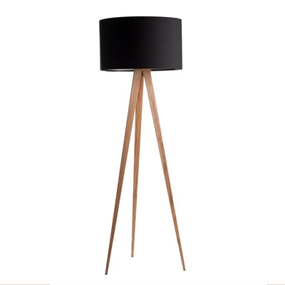 Vloerlamp Driepoot Hout Zuiver Wooden Tripod Lamp In Black - Zuiver | Cuckooland