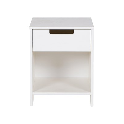 Woood Jade Jade Bedside Cabinet In White By Woood