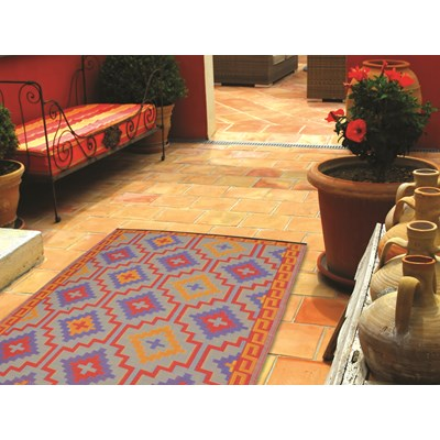 Outdoor Teppich Lhasa Fab Hab Lhasa Outdoor Rug In Orange Violet Red