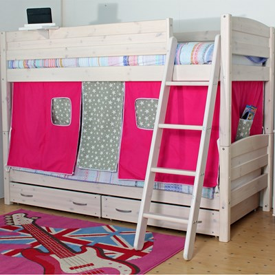 Thuka Cabin Bed 100 Bunk Beds Pine Pine Finish Contemporary Kids Twin Bunk Bed
