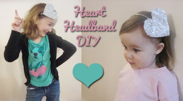 diy glitter heart headband