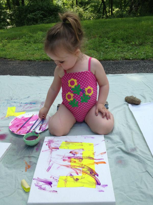 Paint Party: Ellie paints