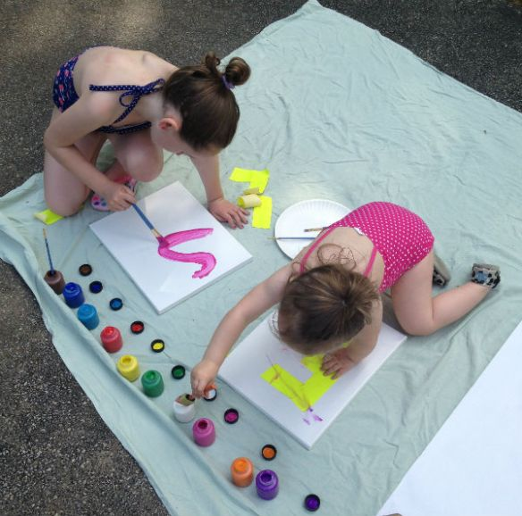 Paint Party: painting beauties