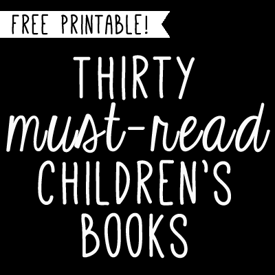 free printable must-read children's books