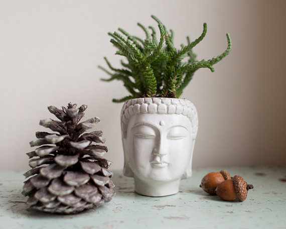 great gifts for moms | Brooklyn Global small Buddha head planter