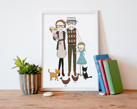 great gifts for moms | Printable Wall Story family portrait