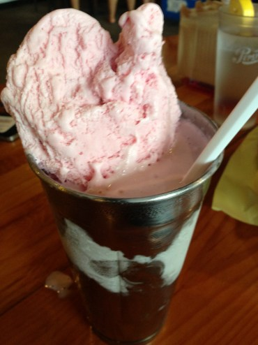 Strawberry Shake at Hodad's Downtown San Diego