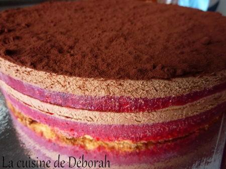 Entremets chocolat-framboise   Cuisine de Deborah