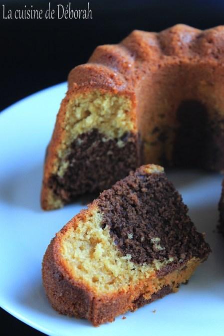 Gâteau marbré chocolat et citron bergamote