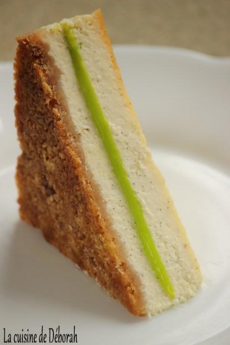 Club-cheesecake vanille et citron vert -Gagnant du concours du magazine fou de pâtisserie- La cuisine de Déborah