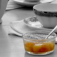 Confiture de poires, rhum et raisins