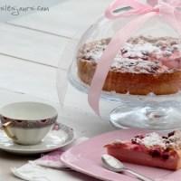 Gâteau magique aux framboises et à la rose... pour Octobre Rose