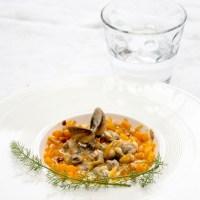 Coques au safran et carottes au gingembre