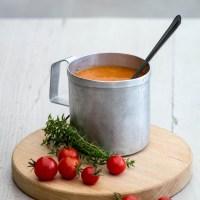 Velouté de tomates cerises rôties au thym [recette]