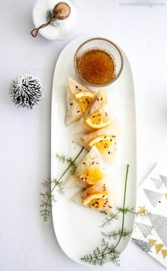 Triangles de foie gras au fenouil et agrumes – ©www.cuisinedetouslesjours.com