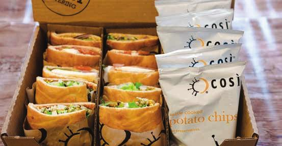 COSÌ caters to order, contact Christie O Brien diningpurdueedu