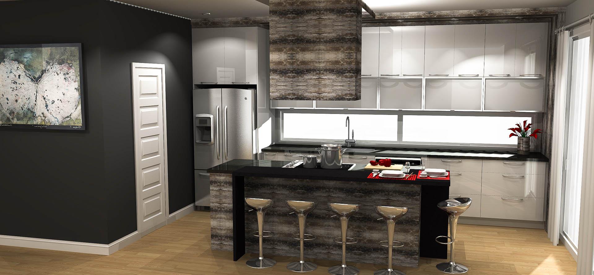 plan cuisine inspirant plan cuisine ouverte pour cuisine leicht semi ouverte. Black Bedroom Furniture Sets. Home Design Ideas