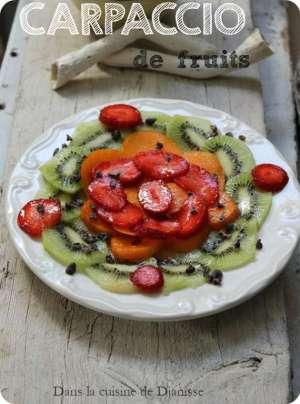 Carpaccio de fruits