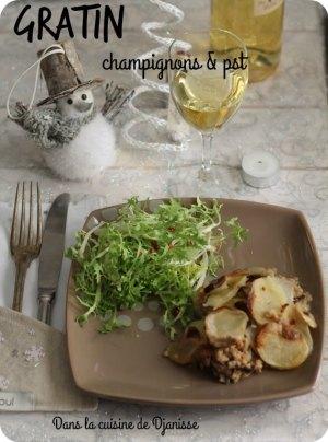 Gratin champignons et PST VEGAN