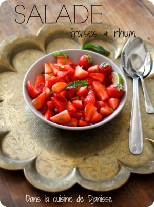 Salade de fraise rhum et citron vert {végétalien}