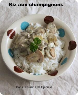 riz aux champignons