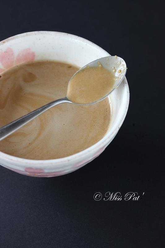 sauce vinaigrette cacahuète miss pat
