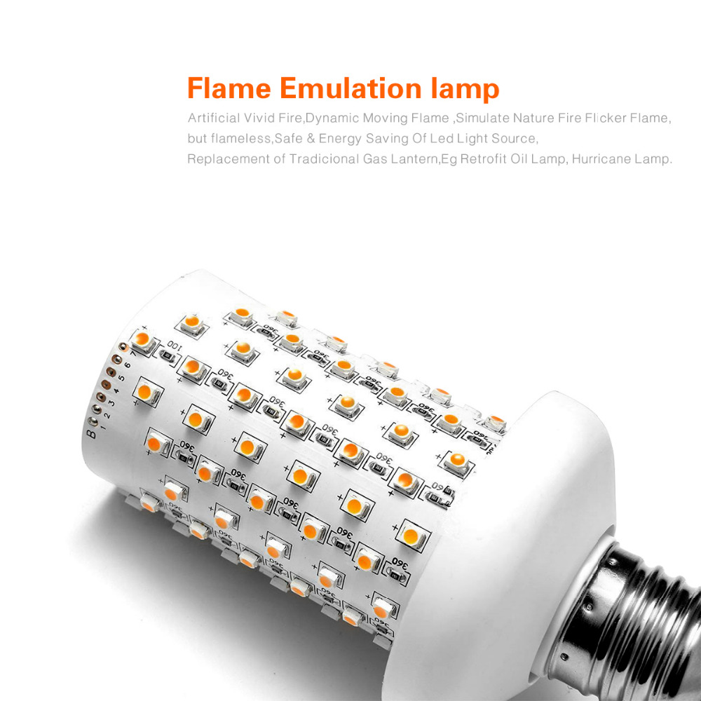 Flame Led Lamp E27 110v 220v E27 E26 Led Lamp Fire Flame Effect Led Bulb Light
