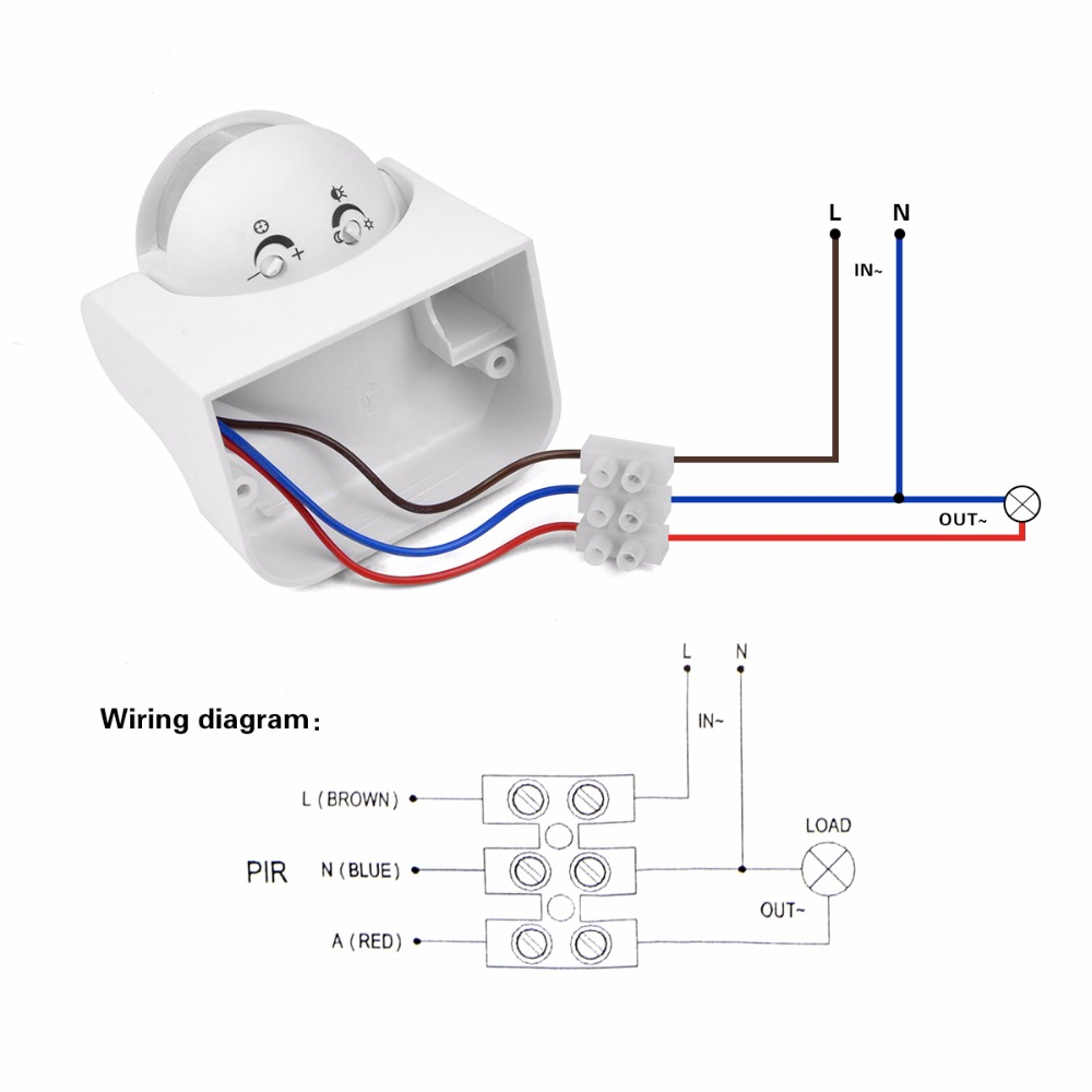 motion detector light wiring diagram
