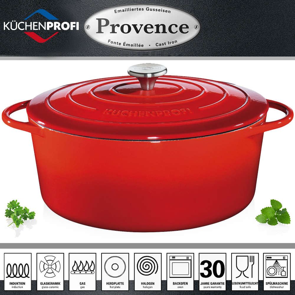 Küchenprofi Thermometer Digital Küchenprofi Provence Oval French Oven Red Cookfunky