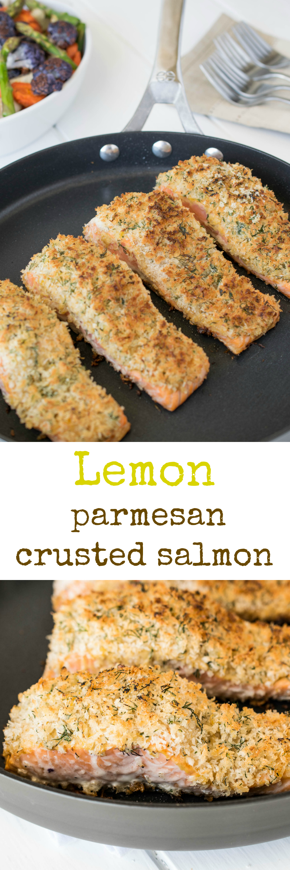 Lemon parmesan crusted salmon culinary ginger for Parmesan crusted fish