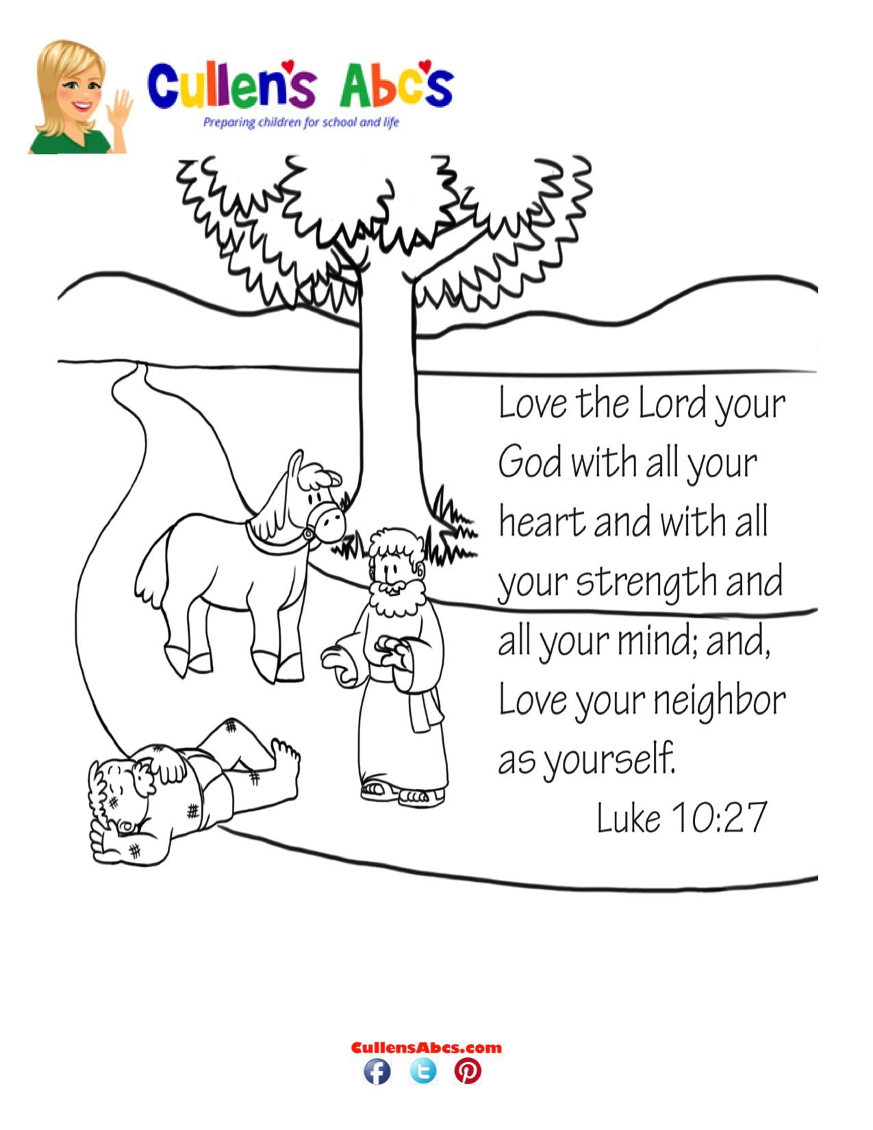 Free coloring page key - Free Coloring Page Good Samaritan Bible Key Point Coloring Page The Good Samaritan Download