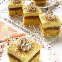 Prajitura rasturnata cu mere si crema de vanilie