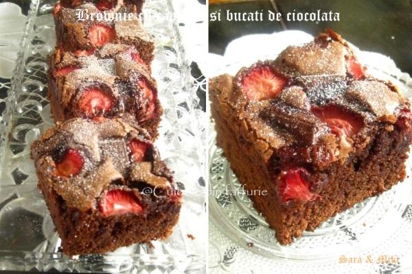 Brownie-cu- capsuni-si-bucati-de-ciocolata-2-1
