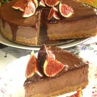 Cheesecake cu ciocolata si smochine