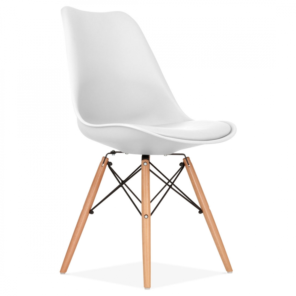 Chaises Dsw Blanches White Soft Pad Dining Chair With Dsw Style Wood Legs | Cult Uk