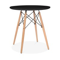 Black Eames Style Small DSW Round Table Black 70cm ...
