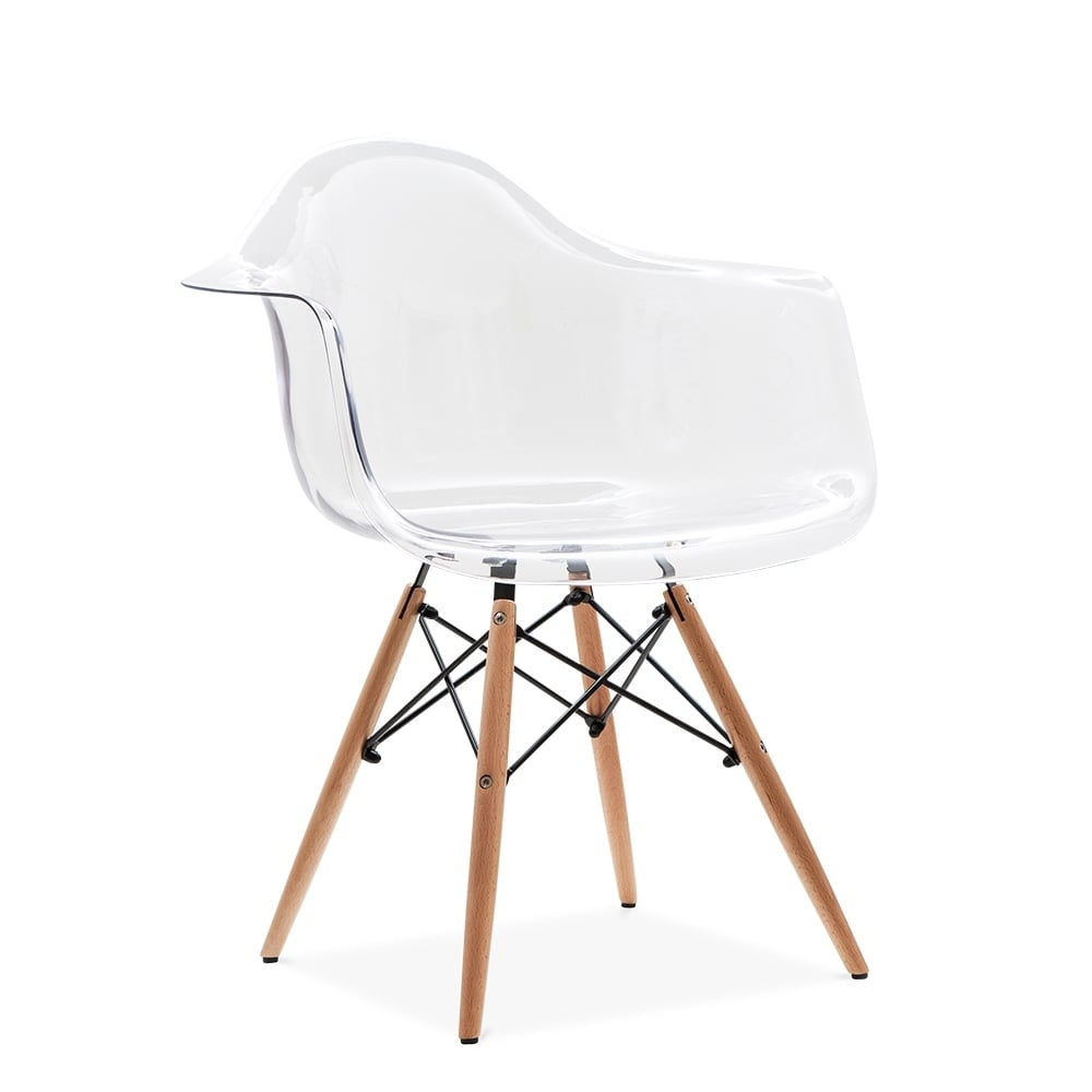 Chaise Daw Transparent Eames Style Daw Chair | Side & Cafe Chairs