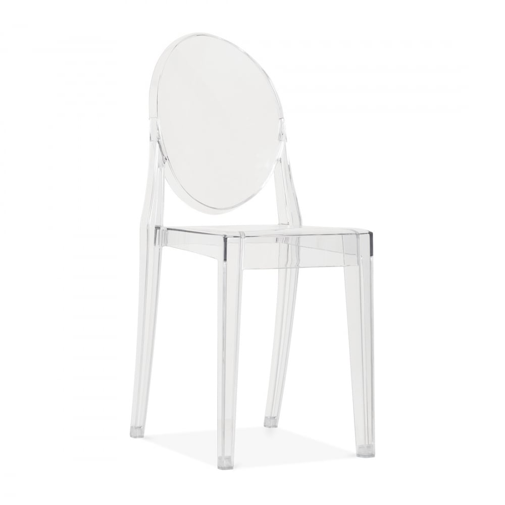Fauteuil Ghost Clair De Style Louis Ghost En Plastique Transparent Cult Uk