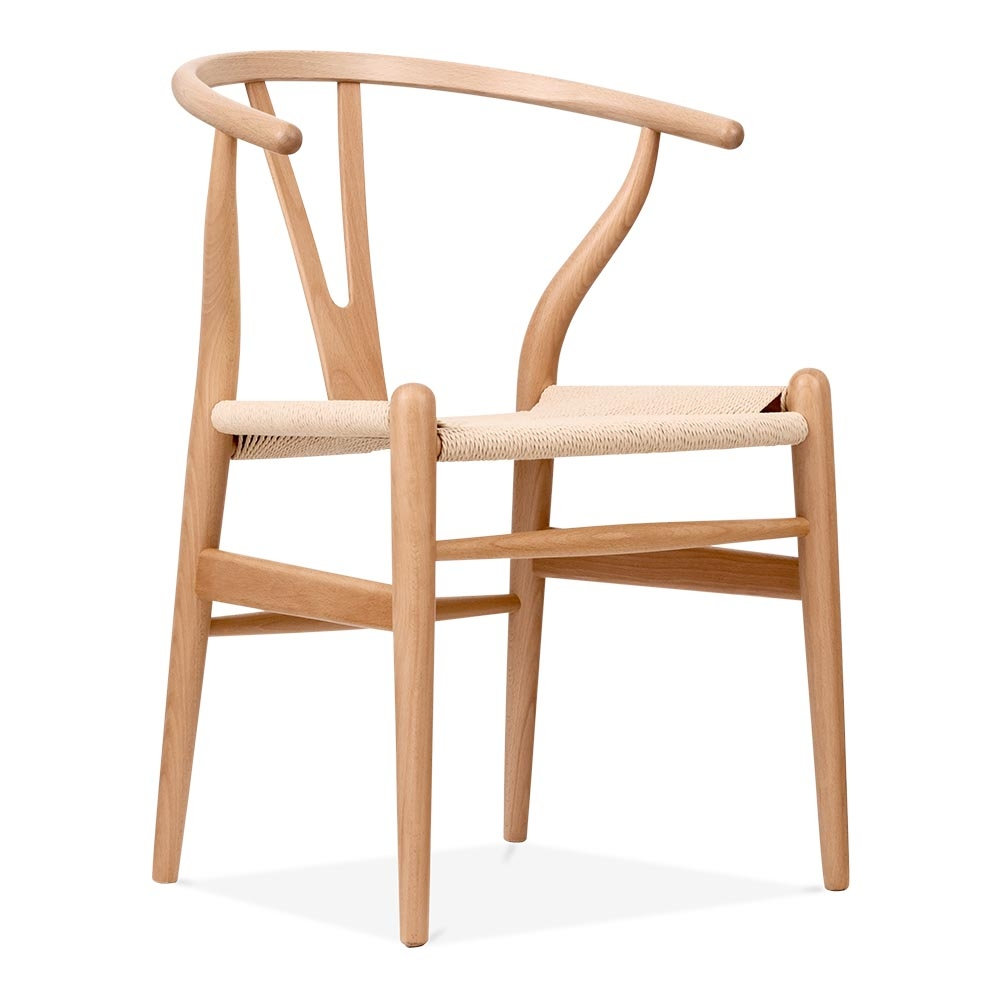 Chaises Wooden Chaise De Style Wishbone En Bois Naturel | Chaise Design