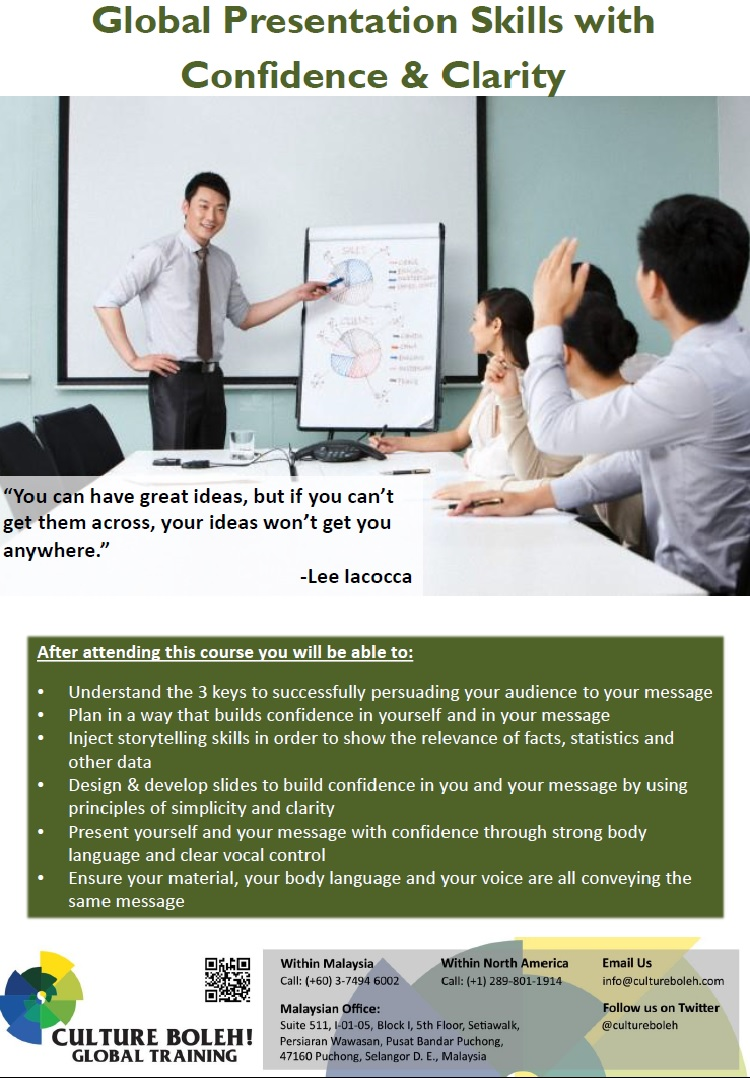 Global Presentation Skills with Confidence & Clarity