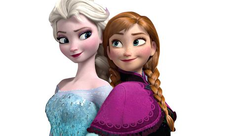 Elsa and Anna in Frozen