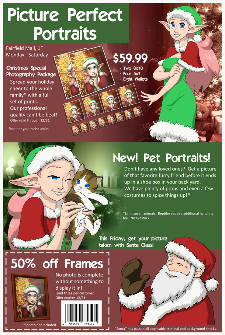 Christmas Portrait Advertisement