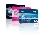 ANZ Bank Debit Card Colours