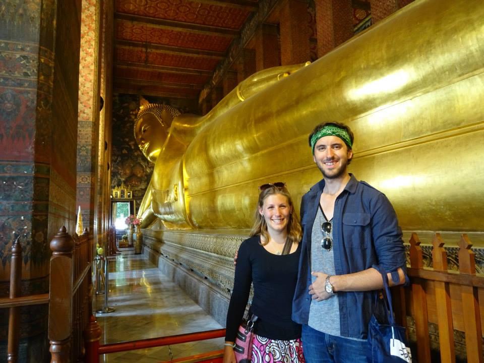 Reclicing Buddha at Wat Pho, Bangkok